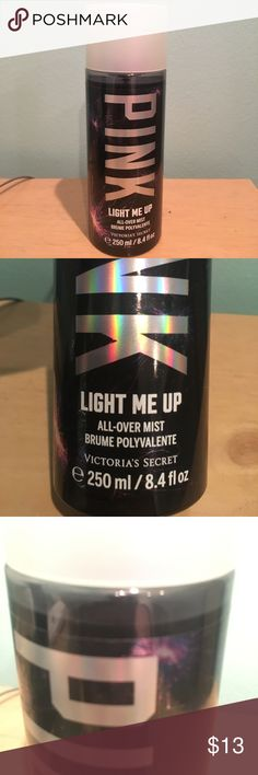 """Pink light me up perfume body mist used once and i didn't like it, smells like """"almond blossom and salted caramel"""" PINK Victoria's Secret Other"""
