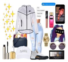 """No heart ~21 Savage"" by amari-nyelle ❤ liked on Polyvore featuring NIKE, Nasaseasons, Rolex, Coco && Breezy, NARS Cosmetics, Maybelline, Ilia and Essie"