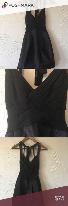 "BCBG Black Cocktail Dress with Pockets The perfect ""Little Black Dress"" worn 3 times at most! BCBG Dresses"