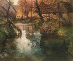 Normandy, Fall Light - George Ames Aldrich Oil on canvas