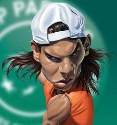 """Caricatura de """"Rafa Nadal"""" por Fernando Buigues"""