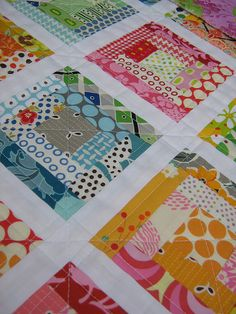 Log cabin quilt by Red pepper quilts flickr