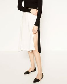 Image 4 of OPEN TWO TONE SKIRT from Zara