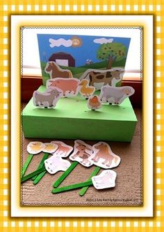 A fantastic game designed to teach young children about the typical animals foun… Toddler Learning Activities, Animal Activities, Preschool Learning Activities, Kids Learning, Farm Animals Preschool, Farm Animal Crafts, Animal Matching Game, Farm Theme, Crafts For Kids