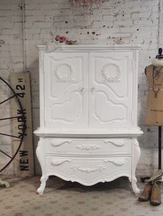 Painted Cottage Shabby White Romantic Dresser by paintedcottages, $595.00