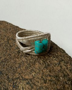 Silver Wire Wrapped Ring by Dreswireddesigns on Etsy