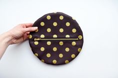 Burgundy Pouch and Gold Polka Dot Leather Pouch Handmade OOAK on Etsy, $48.00