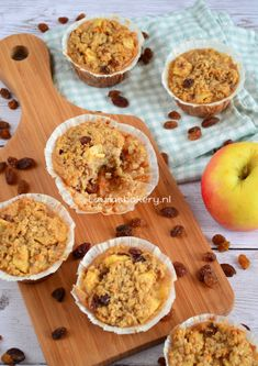 Appeltaart havermout muffins - apple pie oatmeal muffins - Laura's Bakery