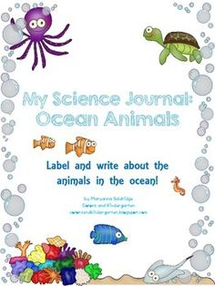 Kids love learning about animals. My Science Journal: Ocean will get students learning, labeling, and writing about ocean animals that fascinate them. There are 19 animals in this unit to label and write about, each one on its own page. You can bind all of the pages to make a book, or do one animal at a time. There are also ocean vocabulary picture cards to post in your classroom or daycare or to use for homeschool! There are also a few bonus activities for our little scientists. Have fun!