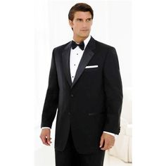 New Tuxedo TWO Button Coat and Pants Set by Fellini. Microfiber, Single Breasted, Notch Lapel, non- vented coat with satin lapel and satin covered buttons. Come
