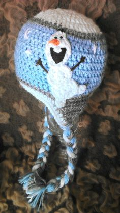 Olaf Inspired Hat with his own Snow Flurry by xoxoTouchOfLovexoxo, $25.00 frozen movie