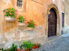 Ceri Town Italy...I have wedding pics right next to this exact door!!!
