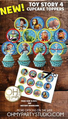 51 Ideas Toy Story Birthday Party Ideas At Home Toy Story Birthday, Toy Story Theme, Toy Story Party, Toy Story Decorations, Christmas Party Decorations, Birthday Party Decorations, Toy Story Cupcakes, Cupcakes For Boys, Birthday Party Tables