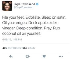Pray first! and oil them edges at night, make sure you remove any gel or edge control first