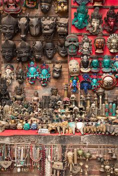 Nepali souvenirs by Bisual Studio - Mask, Nepal - Stocksy United Us Images, Bohemian Decor, Nepal, Design Elements, City Photo, The Unit, Stock Photos, Indian, Studio