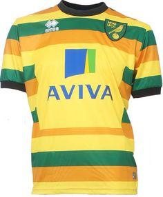 The new Norwich City Home Kit introduces a half and half design for the  club s return to the Premier League. Made by Errea e896978e9