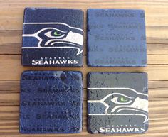 Seattle Seahawks coasters stone tile  4 pack. Game by CoastersSC, $18.00