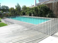 3 Lucky Clever Tips: Fence Plants Animals wood and metal fence.Fence Landscaping Along The rustic country fence. Fence Landscaping, Pool Fence, Backyard Fences, Garden Fencing, Garden Pool, Swimming Pool Designs, Swimming Pools, Gabion Fence, Pallet Fence
