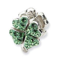 Sterling Silver Light Green Swarovski Elements Clover Charm Bead Fits Pandora Chamilia Biagi Bracelet Jewelry Mountain http://www.amazon.com/dp/B009AL4E1Q/ref=cm_sw_r_pi_dp_luCUvb0DW3WQE