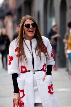 Anna dello Russo is playful in Prada