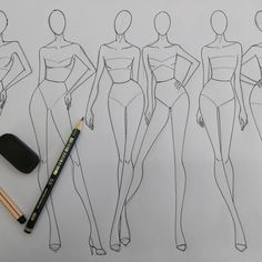 31 Ideas for fashion ilustration croquis sketch books Fashion Illustration Tutorial, Fashion Illustration Sketches, Illustration Mode, Fashion Sketches, Croquis Fashion, Fashion Model Sketch, Fashion Design Illustrations, Portfolio Mode, Fashion Portfolio