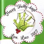 Happy Holly Days Plate