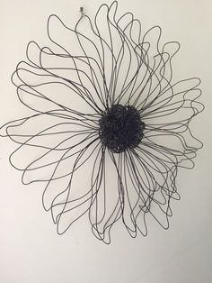 Metal Wire Flower Wall Sculpture Wall Art Decor Daisy Girls Teen room #Embellished #Contemporary