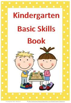 Our most popular download. Kindergarten Basic Skills Book - PDF file    Designed by Clever Classroom.     28 page resource file.    Test your child's or children's academic readiness for school or Kindergarten.    This book is a basic assessment for children soon to start or beginning Kindergarten. (would be great to give to all the kiddos in Pre-K this year for next year!)