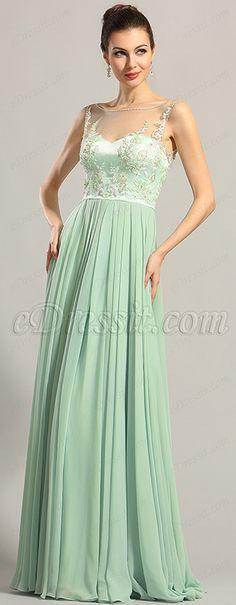 eDressit A Line Sleeveless Embroidery Bodice Prom Dress Formal Evening Dresses