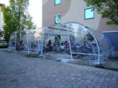 Fietsoverkapping in combi voor NCOI opleidingen te Hilversum.