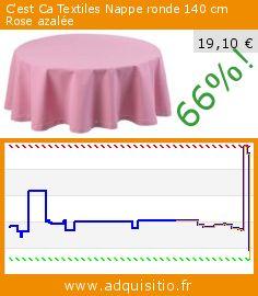 C'est Ca Textiles Nappe ronde 140 cm Rose azalée (Cuisine). Réduction de 66%! Prix actuel 19,10 €, l'ancien prix était de 55,92 €. http://www.adquisitio.fr/cest-ca/textiles-nappe-ronde-140