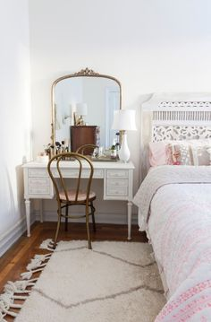 Our Souk Wool Rug in Natural spotted in this bedroom on Brownstoner!