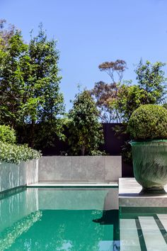 Outdoor pool at property in Melbourne. | Photo: Matt Lowden | Story: BELLE