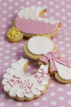 bib, rattle and pram web new, galletas para nuevas mamás, sweets for new kids