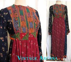 Your place to buy and sell all things handmade Afghan Clothes, Afghan Dresses, Missoni, Beautiful Dresses, Nice Dresses, Stylish Dresses, Hippy Chic, Tribal Dress, Thing 1