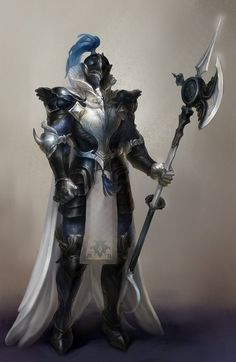 m Paladin Plate Armor Helm Cloak Halberd male Knight urban City fog Pathfinder PFRPG DND D&D Fantasy Grounds lg Fantasy Armor, Medieval Fantasy, Dark Fantasy Art, Fantasy Character Design, Character Inspiration, Character Art, Dnd Characters, Fantasy Characters, Armor Concept