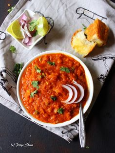Pav Bhaji is a street food which from state of Maharashtra, India. Pav means dinner rolls and bhaji means cooked vegetables. Bhaji is a blend of vegetables and spices. The bhaji is also healthy in … Boiled Vegetables, All Vegetables, Veggies, Bhaji Recipes, Food Dishes, Side Dishes, Pav Bhaji Masala, Vegetable Curry, Indian Street Food