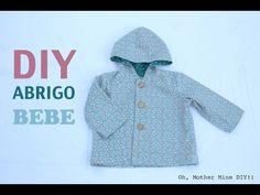 DIY Costura: Cómo hacer abrigo bebe (patrón gratis) - YouTube