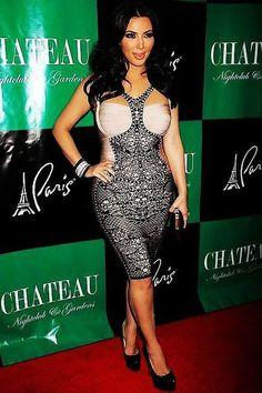 Kim Kardashian Herve Leger Black Lace Detailing Dress [Kim Kardashian Herve Leger Dress] - $175.00 : Fashion dresses, 50% off Designer dresses at UrDressOnline