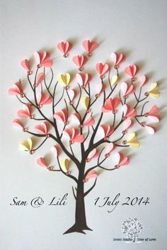 Items similar to Wedding Guest Book Tree of Love. Wedding Guest Book Alternative, Wish box on Etsy Diy Crafts Hacks, Diy Crafts For Gifts, Creative Crafts, Decor Crafts, Wedding Tree Guest Book, Guest Book Tree, Wedding Card, Craft Wedding, Guest Books