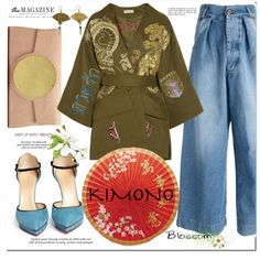 Kimono cool by monica-dick on Polyvore featuring Emilio Pucci, Off-White, Charlotte Olympia, Dareen Hakim, WALL, Erdem and kimonos