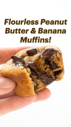 Flourless Muffins, Dairy Free Recipes, Healthy Recipes, Healthy Munchies, Honey Chocolate, Muffin Tin Recipes, Peanut Butter Banana, No Bake Treats, Sin Gluten