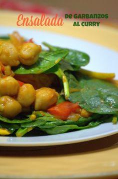 Ensalada de garbanzos al curry / Curried Chickpeas Salad #meatlessmonday