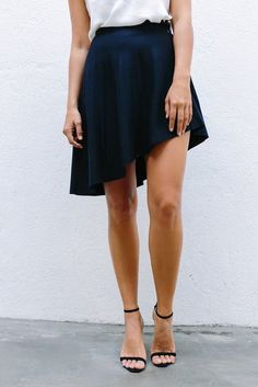 DIY Quick Asymmetrical Skirt - FREE Sewing Tutorial