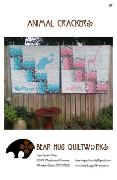 Animal Crackers Baby Quilt Pattern by BearHugQuiltworks on Etsy, $10.99