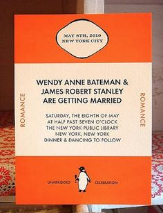 Extremely awesome nerdy wedding invite!  via buzzfeed.com.  Click through for 29 more nerdy wedding invite ideas