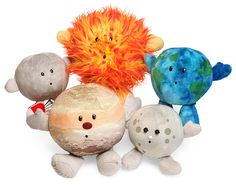Plush Planets | Sure, you know about all of the planets and are a real space buff, but as much as you love all of the planets in our solar system, you just wish that you could cuddle up with them at bedtime. Well, now you can thanks to these Plush Planets.