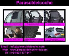 Cortinillas solares a medida para coches Parasol, Rear Window, Custom Curtains, Cars