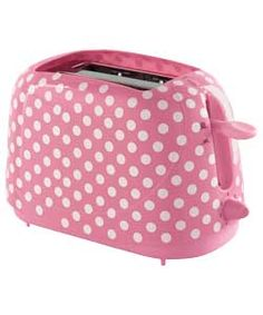 A pink polka dot toaster! How flipping cute? Pink Love, Pretty In Pink, Pink Toaster, Pink White, Hot Pink, My Favorite Color, My Favorite Things, I Believe In Pink, Color Rosa
