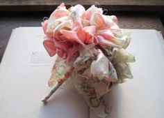 Vintage Fabric Flower Pom by bedouin on Etsy